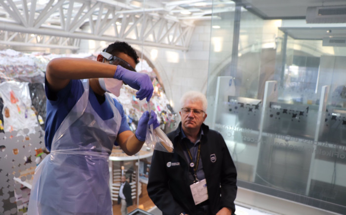 Western Cape Premier Alan Winde gets tested for COVID-19: Image: Twitter.
