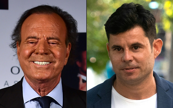 FILE: This combination of pictures shows a file photo taken on 23 September 2015 of Spanish singer Julio Iglesias in Mexico City and a file photo taken on 4 July 2019 of Javier Sanchez Santos in Valencia. Picture: AFP.