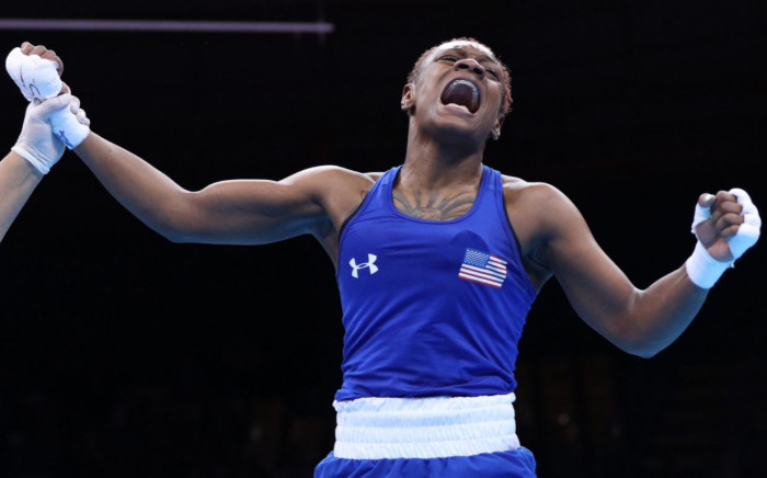 US boxer Oshae Jones advances to Welterweight Semifinals. Picture: @boxingscene/Twitter.