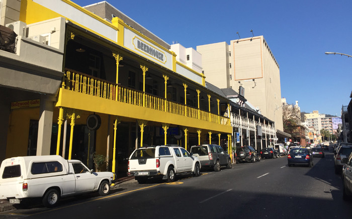 Stretch of businesses along Long Street. Picture: Thomas Holder/EWN.