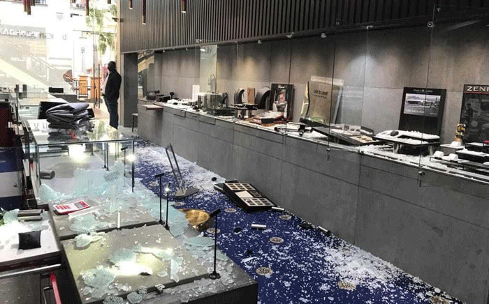 A jewellery store at the Gateway shopping centre in Umhlanga was robbed on 15 January 2020. Picture: Supplied.