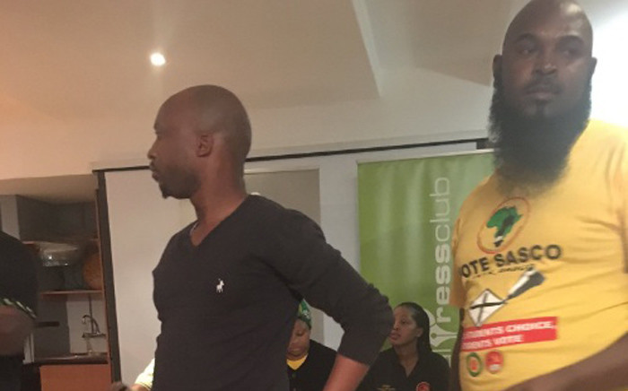 ANC members who claim to be from Tshwane stop Occupy Luthuli House briefing. Picture: Clement Manyathela/EWN.