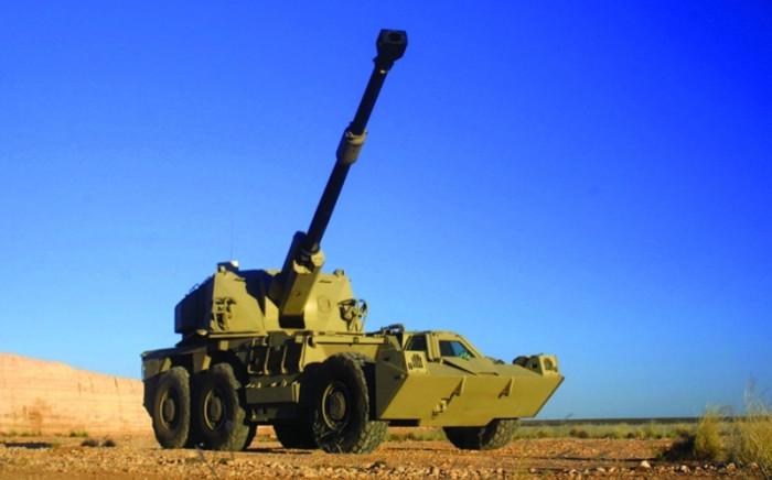 FILE: One of Denel's products, the G6 155mm self-propelled artillery gun. Source: Denel.