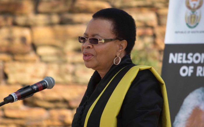 Nelson Mandela's widow, Graca Machel speaking at the special remembrance of the struggle icon at the Union Buildings in Pretoria on 5 December 2013. Picture: Christa Eybers/EWN