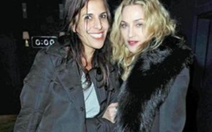 Pop singer Madonna (R). Picture: AFP.