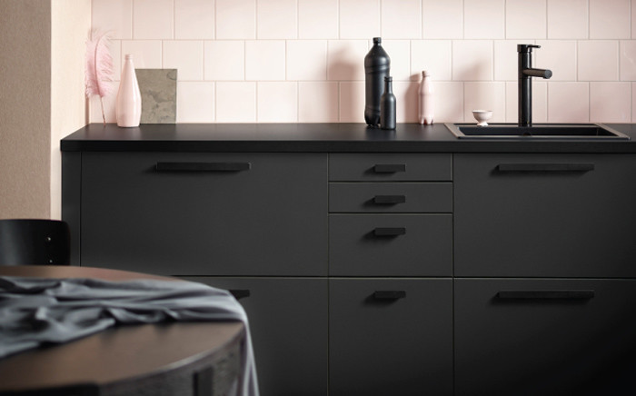 The IKEA kitchen cabinets made from recycled plastic bottles. Picture: ikea.com