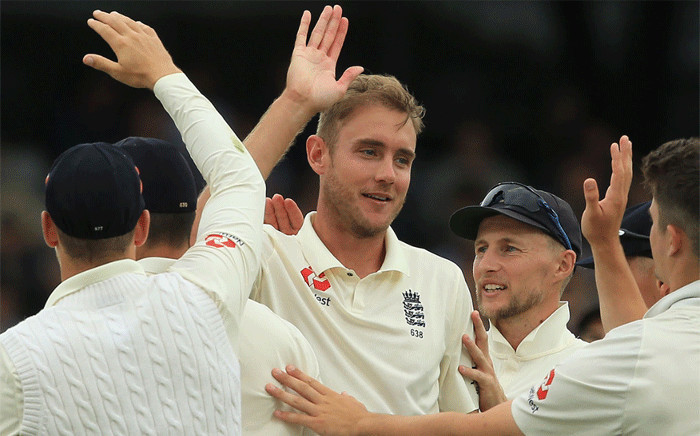 England team members celebrate after defeating Pakistan in an innings defeat to end the two-Test series in a 1-1 draw. Picture: @englandcricket/Twitter