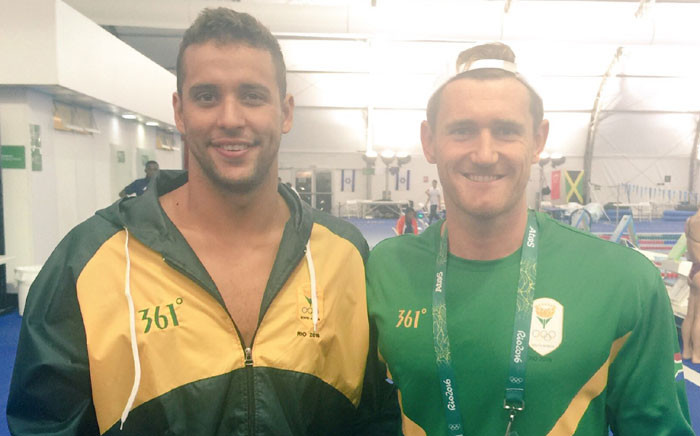 South African swimmers Chad le Clos and Cameron van der Burgh. Picture: Jean Smyth/EWN.