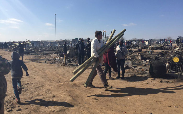 The city has asked members of the public to donate supplies to help the families who are now homeless. Picture: Dineo Bendile/EWN.