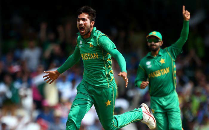 Fast bowler Mohammad Amir has been omitted from Pakistan's 15-man preliminary squad for the ICC Men's Cricket World Cup, but has been included for their ODI series against England. Picture: @cricketworldcup/Twitter