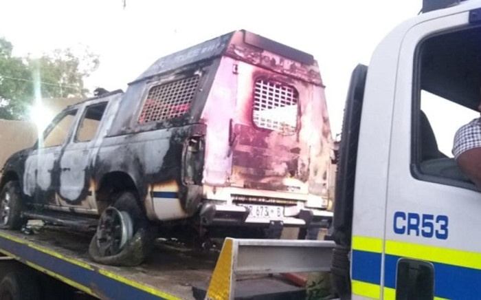 It's understood the police responded to a complaint about a shebeen that was still open during the early hours of Saturday, in contravention of the lockdown curfew. Picture: SA Police Service/Facebook.