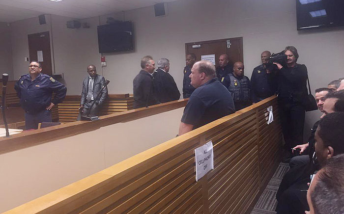 Alan Ravers was granted bail of R20,000 in the Bellville Magistrates Court for smuggling firearms into the province. He faces a total of 34 charges. Picture: Monique Mortlock.EWN.
