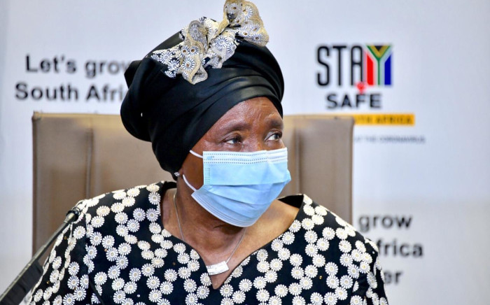 Cogta Minister Nkosazana Dlamini-Zuma briefs the nation on regulations under lockdown level 1, which comes into effect at midnight, on Sunday 20 September 2020., Picture: GCIS
