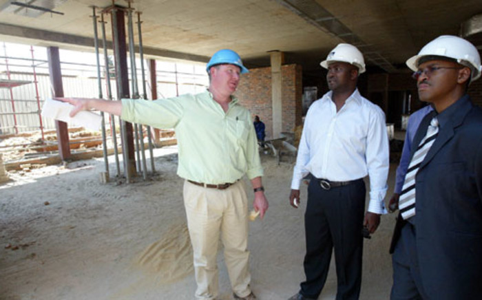 File: Former Health officials inspect the construction site of a Soweto hospital. Picture: Sapa