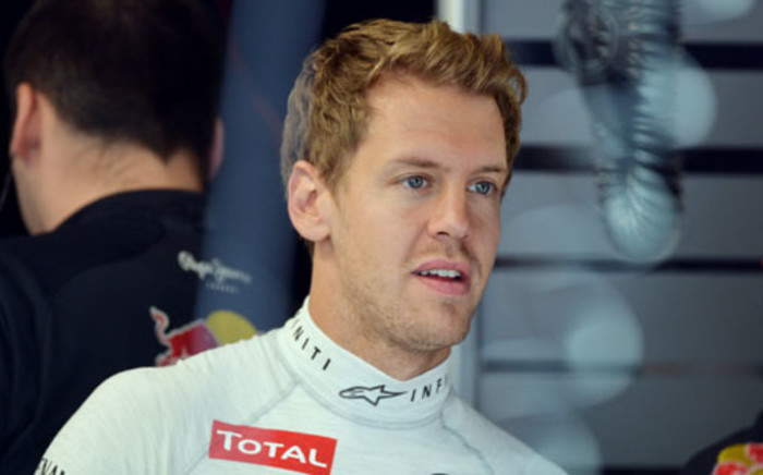 Sebastian Vettel started his campaign to win four successive world titles with third place on Sunday.