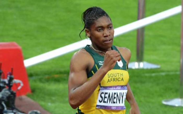 Olympic silver medallist in the women's 800 metres, Caster Semenya.