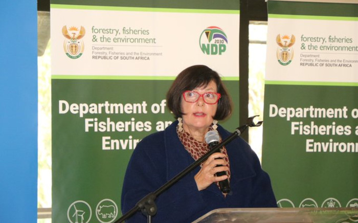 Environmental Affairs Minister Barbra Creecy at the commemoration of World Environment Day on Saturday, 05 June 2021. Picture: Twitter/@environmentza