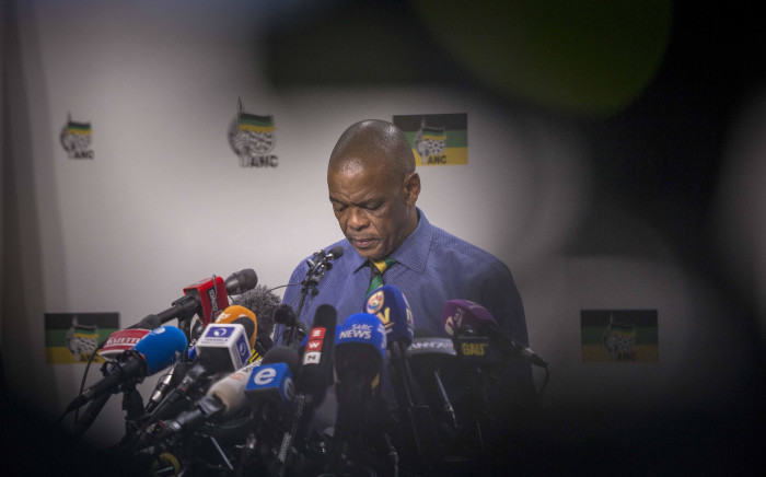 ANC SG Ace Magushule briefs the media at Luthuli House on the NEC meeting that resulted in the decision to recall Jacob Zuma. Picture: Thomas Holder/EWN
