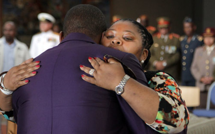 FILE: Defence Minister Nosiviwe Mapisa-Nqakula during her son's funeral. Picture: Supplied.