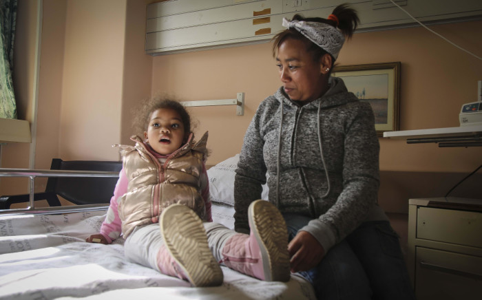 Zharane Lewin had a tonsillectomy after enlarged tonsils affected her quality of life. Picture: Cindy Archillies/EWN