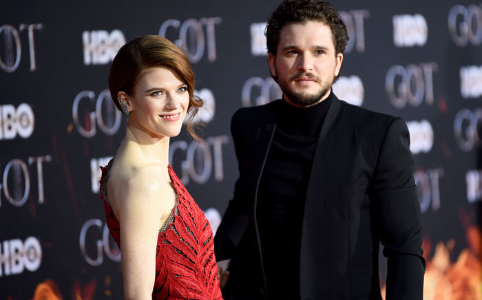 Rose Leslie and Kit Harington attend the 'Game Of Thrones' Season 8 Premiere on 3 April 2019 in New York City. Picture: AFP