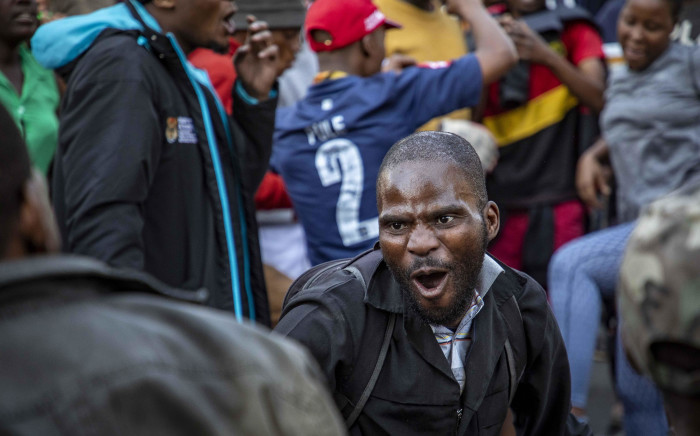 FILE: Alexandra protesters protest outside the City of Joburg offices in Sandton for better service delivery. Picture: Thomas Holder/EWN