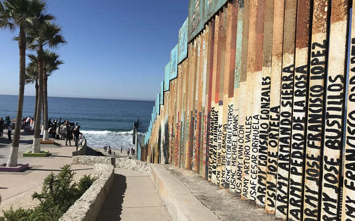 A general view of the Mexico-US border fence. Picture; Pixabay.com.