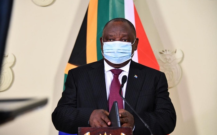 President Cyril Ramaphosa addressing the nation on Monday, 14 December 2020. Picture: @GovernmentZA/Twitter
