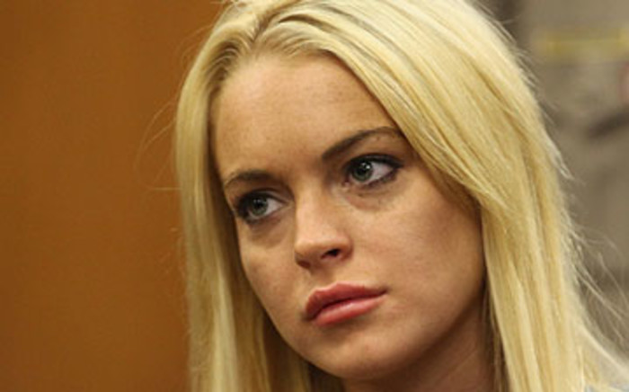 Hollywood actress Lindsay Lohan. Picture: AFP.
