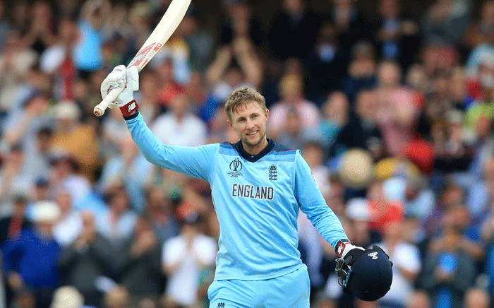 England's Joe Root celebrates after reaching his century during the 2019 Cricket World Cup group stage match between England and Pakistan at Trent Bridge in Nottingham, central England, on 3 June, 2019. Picture: AFP