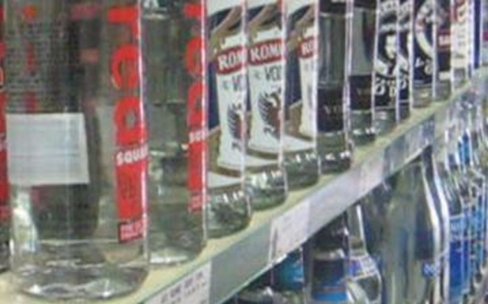 Alcohol at a liquor store.