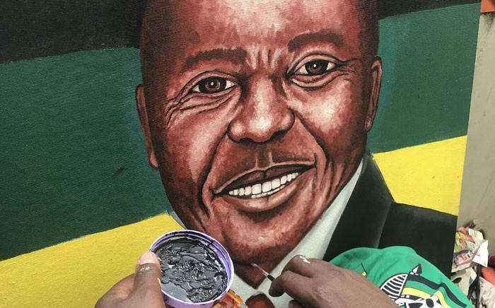 Rasta paints President Cyril Ramaphosa. Picture: Twitter