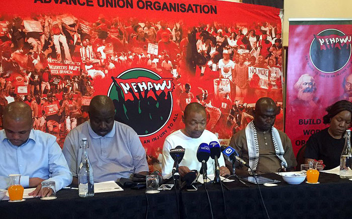 FILE: Nehawu members. Picture: Clement Manyathela/EWN.