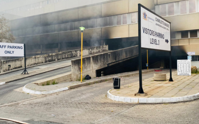 FILE: A fire broke out at the Charlotte Maxeke Academic Hospital in Johannesburg on Friday, 16 April 2021. Picture: Twitter/@GautengHealth