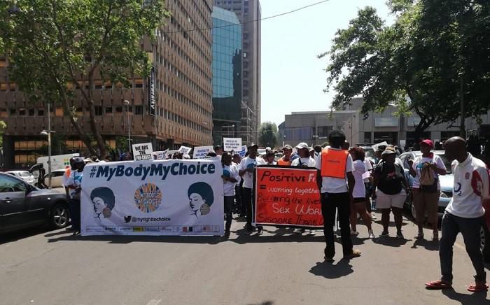 International Safe Abortion Day march in Braamfontein. Picture: EWN.