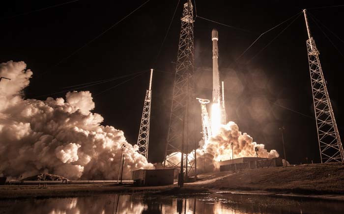 A view of the launch of launch the classified intelligence satellite, code-named Zuma, in Cape Canaveral, Florida. Picture: @SpaceX/Twitter.
