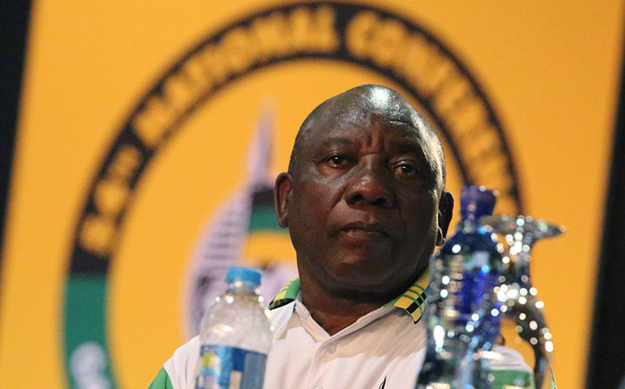 New ANC president Cyril Ramaphosa after the announcement of the ANC's new top 6 on 18 December 2017. Picture: Sethembiso Zulu/EWN