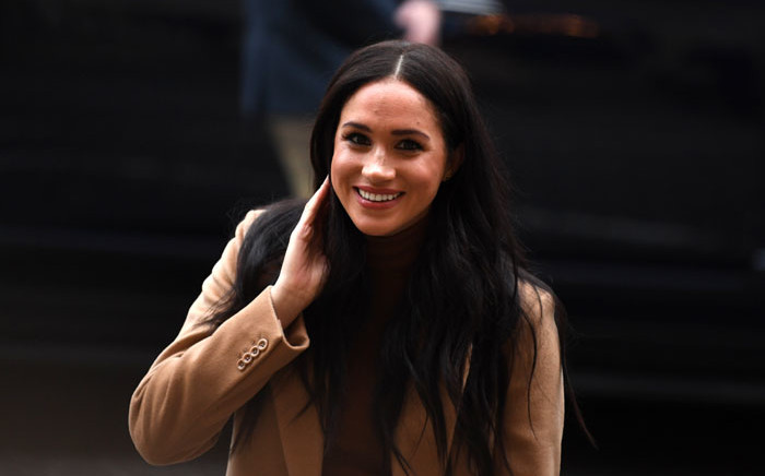 In this file photo taken on 7 January 2020 Britain's Meghan, Duchess of Sussex reacts as she arrives to visit Canada House, in London, in thanks for the warm Canadian hospitality and support they received during their recent stay in Canada. Picture: AFP