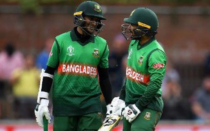 FILE: A 189-run partnership between Shakib Al Hasan and Liton Das powered Bangladesh to a seven-wicket win over West Indies in Taunton. Picture: Twitter/@cricketworldcup