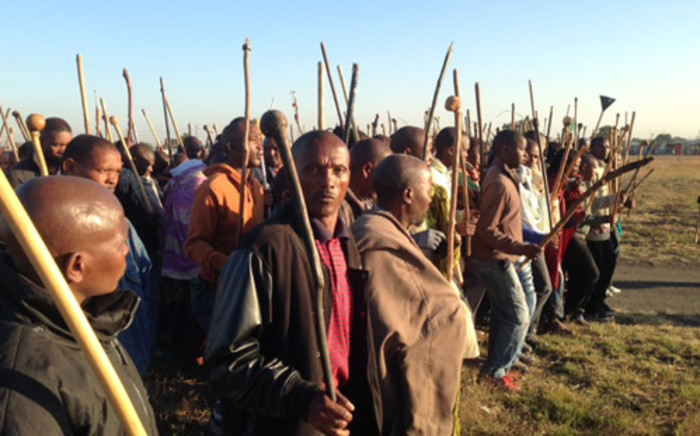 Around 70,000 Amcu-affiliated miners have been on strike on the platinum belt since January. Picture: Vumani Mkhize/EWN.