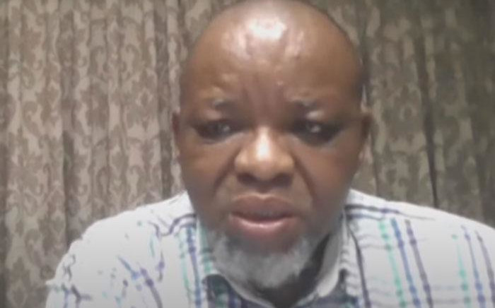 A screengrab of Minerals and Energy Minister Gwede Mantashe giving evidence via video link during a session of the state capture inquiry on 19 March 2021. Picture: SABC/YouTube