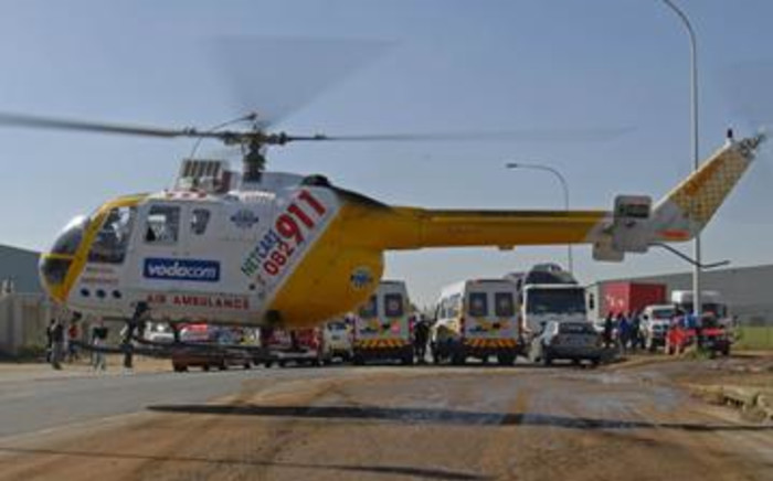 Paramedics attend to the scene of an accident Picture: Chris Botha/Netcare 911