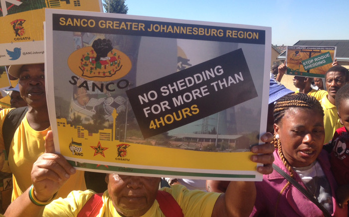 Hundreds of Soweto residents marched to Eskom's headquarters in the area to convey their frustrations with the power utility over unplanned power cuts on 14 May 2015. Picture: Vumani Mkhize/EWN.