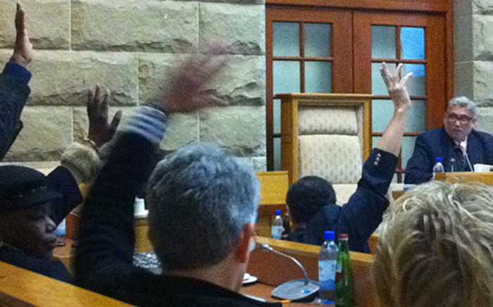 Members of Parliament vote in the proposed Protection of State Information Bill. Picture: Chantall Presence/EWN