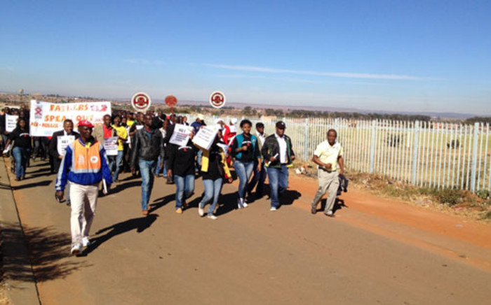 ANC branches in Soweto held a march and prayer session on 20 May 2012, to highlight the escalating rape cases in that community. Picture: Jacob Moshokoa/EWN