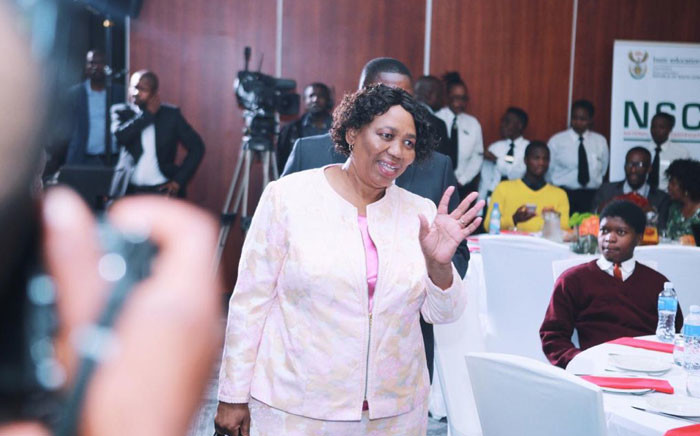 Basic Education Minister Angie Motshekga addressed the country's top matriculants at a breakfast at Vodaworld in Midrand on 7 January 2020. Picture: @DBE_SA/Twitter