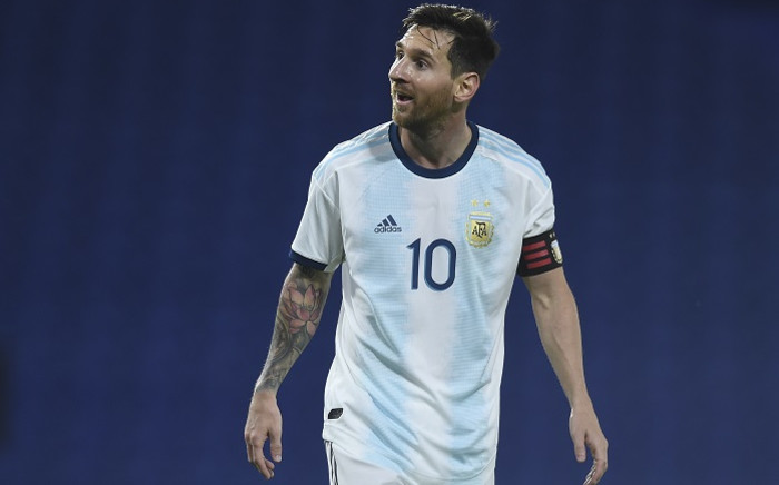 Argentina's Lionel Messi is pictured during the 2022 Fifa World Cup South American qualifier football match against Ecuador at La Bombonera stadium in Buenos Aires on 8 October 2020, amid the COVID-19 novel coronavirus pandemic. Picture: AFP.