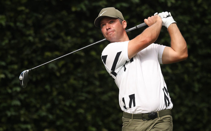 Paul Casey of England hits his tee shot on the second hole during the first round of the Masters at Augusta National Golf Club on 12 November 2020 in Augusta, Georgia. Picture: AFP