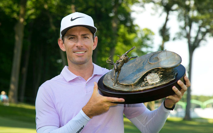 South Africa's Dylan Frittelli after his victory in the John Deer Classic on 14 July 2019. Picture: @JDCLASSIC/Twitter