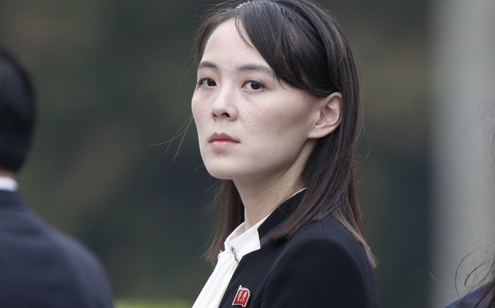 This file photo taken on 2 March 2019 shows Kim Yo Jong, sister of North Korea's leader Kim Jong Un, attending a wreath-laying ceremony at the Ho Chi Minh Mausoleum during a visit to Hanoi. Picture: AFP.